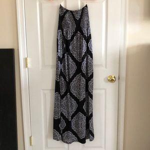 Strapless maxi dress